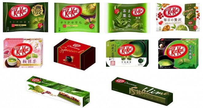 日本でしか買えない味のポッキー、キットカット、コアラのマーチ
