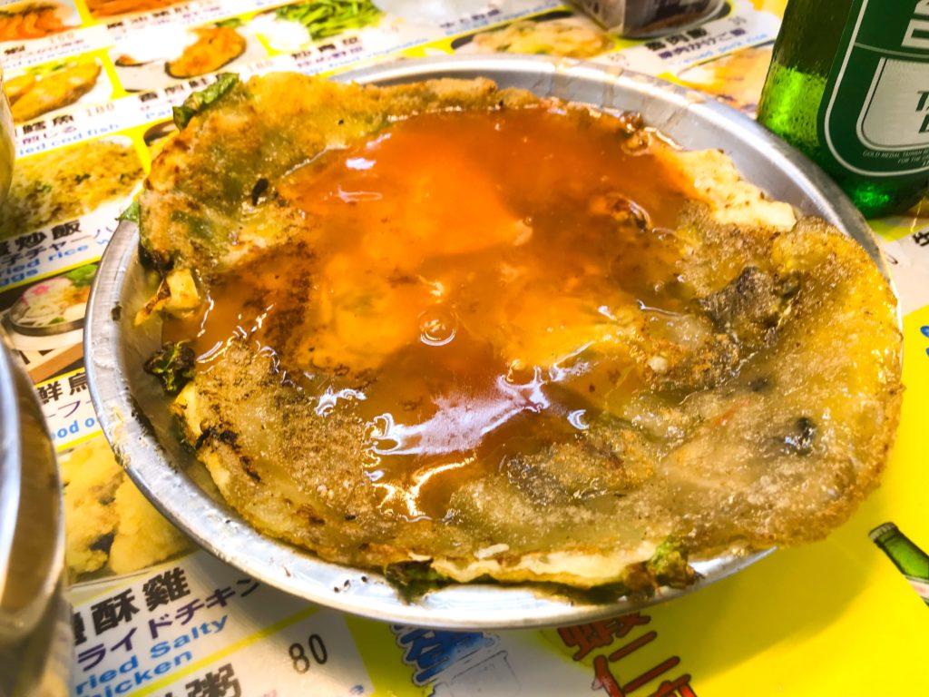 牡蠣たっぷり牡蠣オムレツ