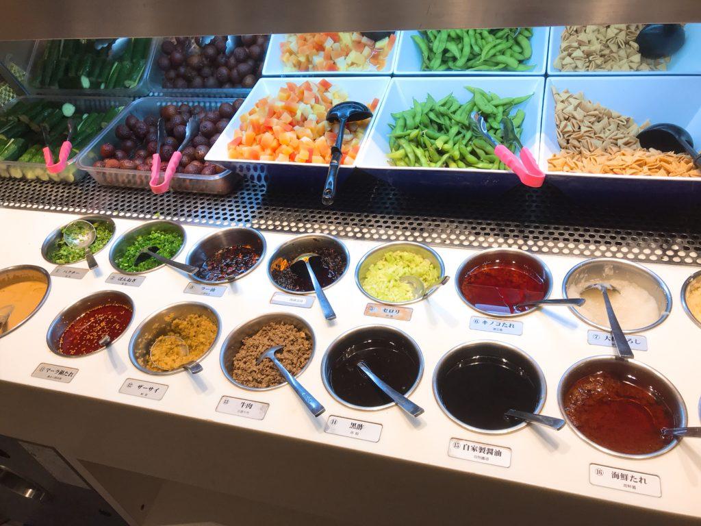 23種類の調味料から自分だけのタレを作れる!