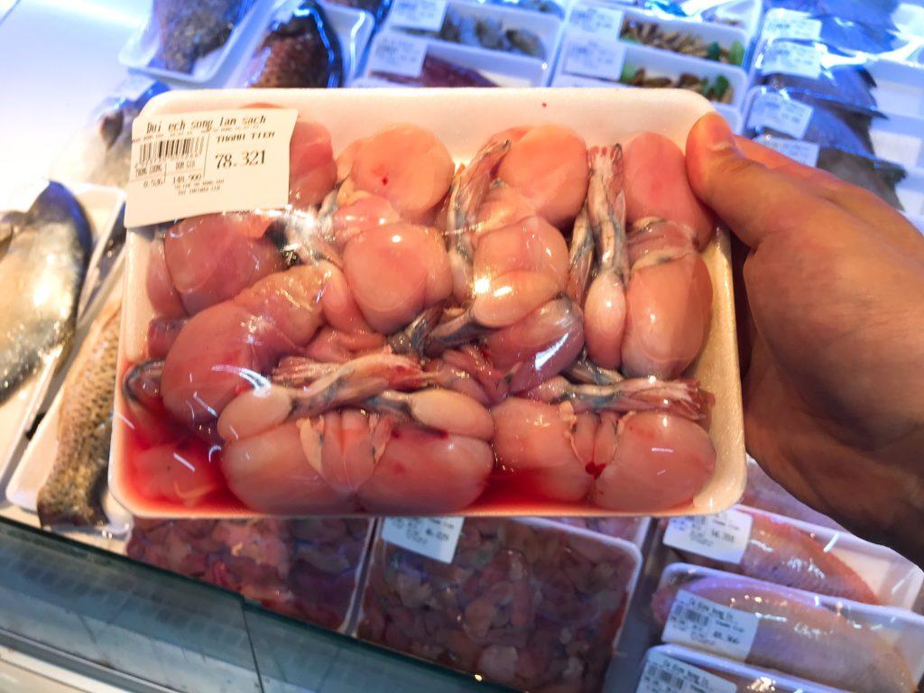 カエルの肉