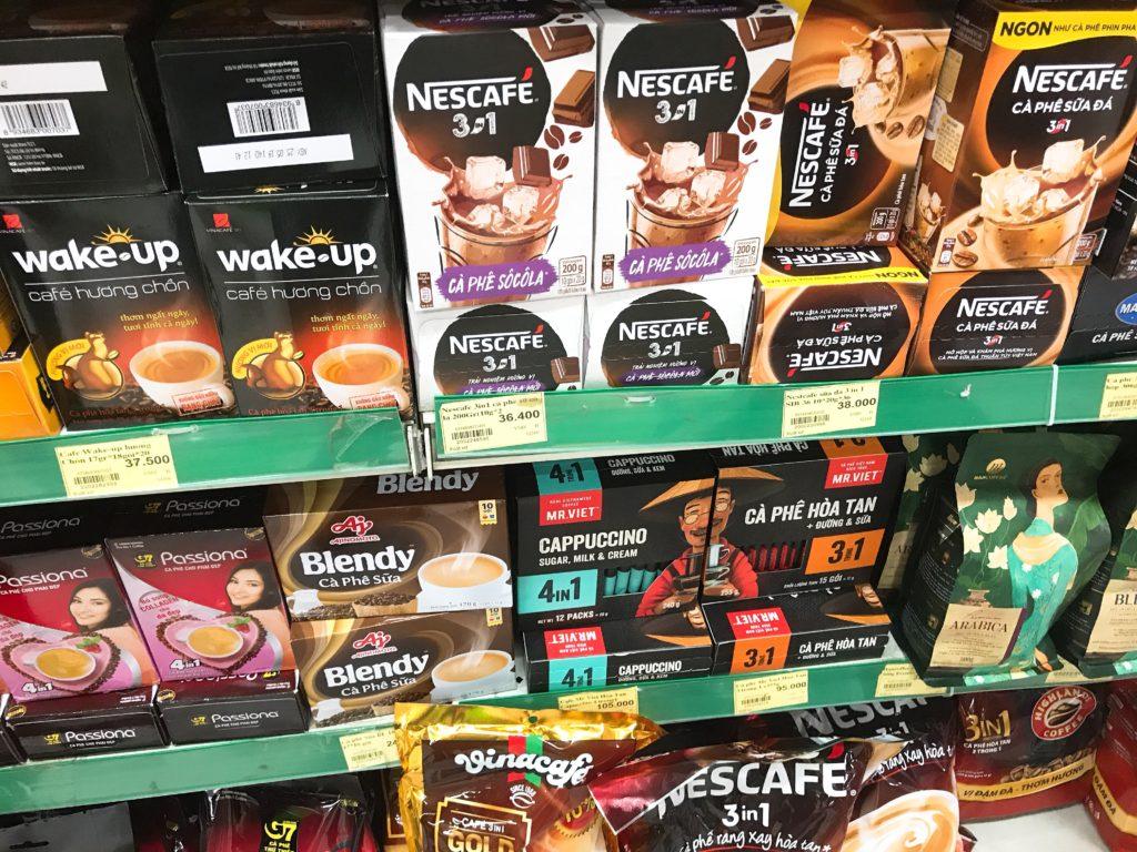 手軽なお土産を買うなら、ハノイでスーパーでベトナムコーヒーを!