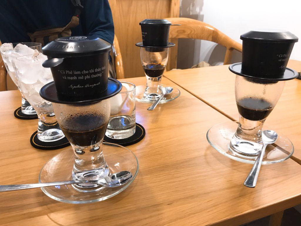 コーヒーをドロップ